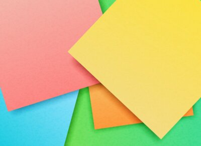 Vector illustration of multicolored craft paper in abstract style