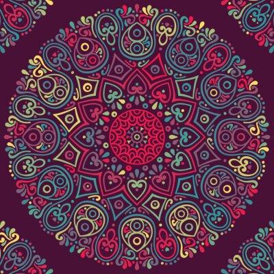 Sticker Vector indischen Mandala