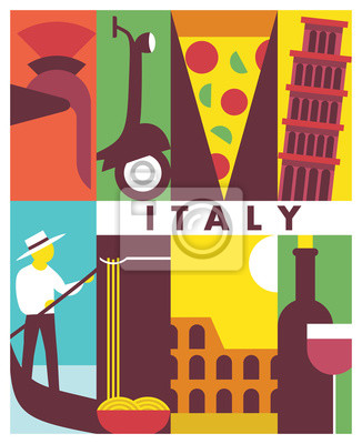 Vector Italy background