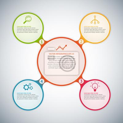Vector Kreis Infografik