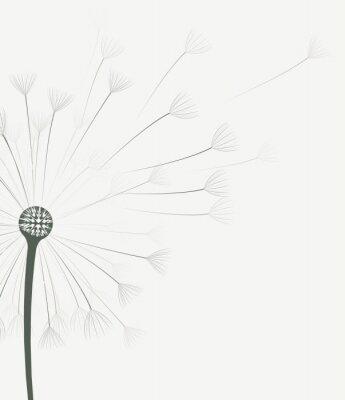 Sticker Vector Löwenzahn Blume