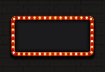 Sticker Vector modernen Retro Billboard Hintergrund