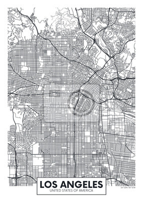 Vector Plakatkartenstadt Los Angeles
