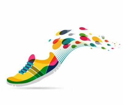 Sticker Vector Poster - Laufen und Sport