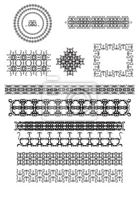 Vector Reihe von line art frames