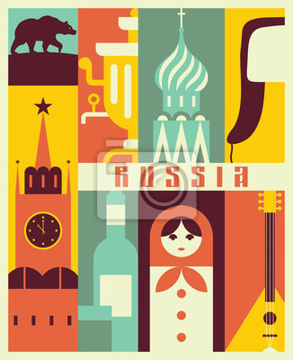 Vector Russia background