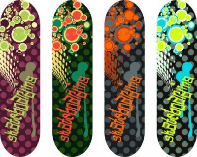 Sticker Vector Skateboard-Design-Paket mit Graffiti-Tags und abstrakte Formen