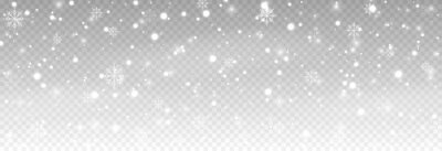 Sticker Vector snow. Snow on an isolated transparent background. Snowfall, blizzard, winter, snowflakes. Christmas image.
