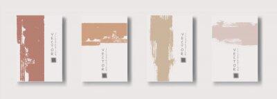 Sticker vector soft color ink brush stroke banner