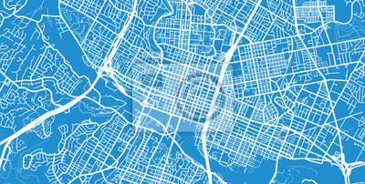 Vector Stadtplan von Austin, Texas.