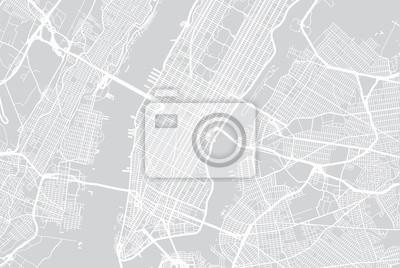 Vector Stadtplan von New York