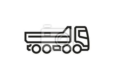 Vehice Icons: Kipper LKW 2. Vektor.