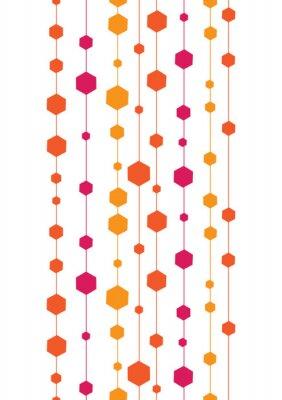Sticker Vektor abstrakten bunten Streifen und Formen vertikale nahtlose