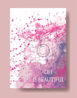 Vektor, Aquarell künstlerische universelle Karte. Hand gezeichneten Texturen. Entwurf für Plakat, Einladung, Schild, Broschüre, Flieger.