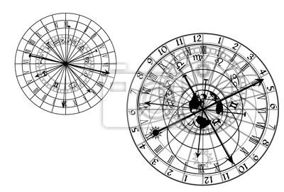 Vektor astronomische Uhr