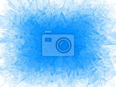 Sticker Vektor blau Frostrahmen