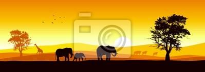 Vektor der afrikanischen Tierwelt