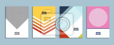 Sticker Vektor-Design-Vorlagen. Hintergründe Stock Vektor