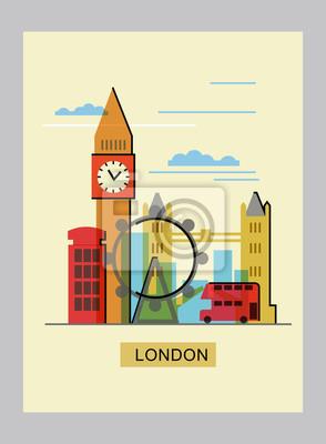 Vektor Farbe london