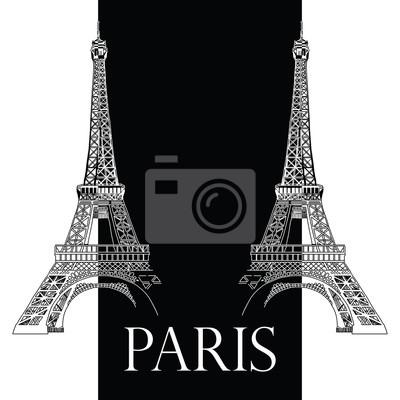 Vektor Handzeichnung Illustration mit zwei Eiffeltürmen