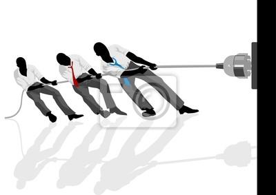 Vektor-Illustration der Männer ziehen den Stecker