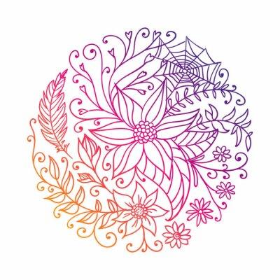 Sticker Vektor-Illustration eines Abstract Ornamental Circle