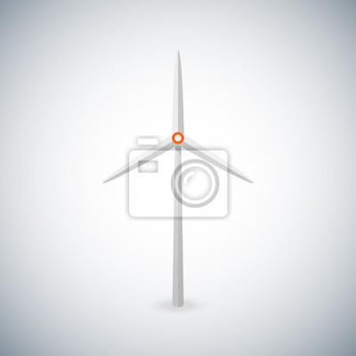 Vektor-Illustration mit Windturbine