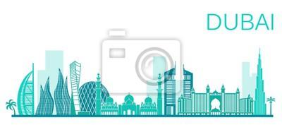 Vektor-Illustration von Dubai Stadt. Stock Vektorgrafik