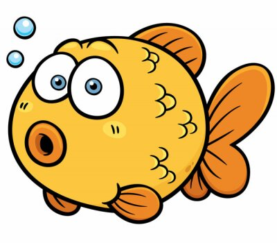 Sticker Vektor-Illustration von Goldfish