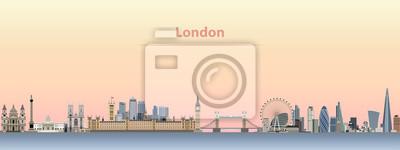 Vektor-Illustration von London Skyline bei Sonnenaufgang