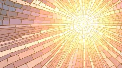 Sticker Vektor-Illustration von Mosaik Sonnenuntergang.