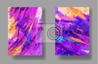 Vektor, künstlerische universelle Karte. Hand gezeichneten Texturen. Bunter Entwurf für Plakat, Einladung, Plakat, Broschüre, Flieger. Aquarell