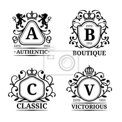 Vektor-monogramm-logo-vorlagen. luxus buchstaben design. graceful ...