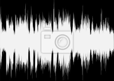 Vektor-Musik-Welle auf schwarzem Hintergrund