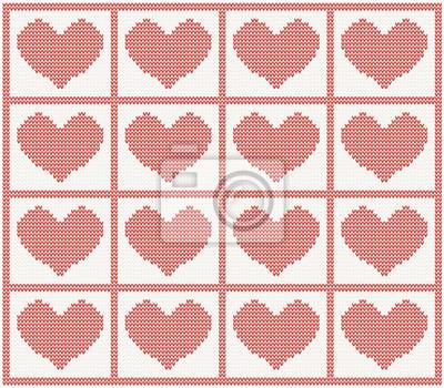Vektor-Muster mit Herzen
