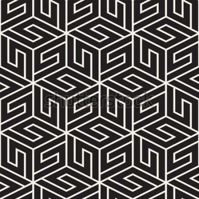 Sticker Vektor nahtlose Gittermuster. Moderne stilvolle Beschaffenheit mit einfarbigem Gitter. Geometrisches Gitter wiederholen. Übersichtliches Design Hintergrund.