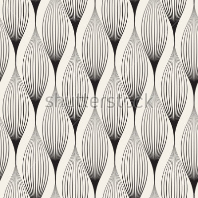 Sticker Vektor nahtlose Muster Abstrakter stilvoller Hintergrund mit den stilisierten Blumenblättern