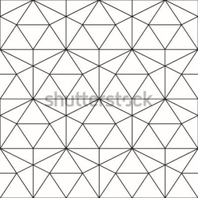 Sticker Vektor nahtlose Muster. Geometrischer Hintergrund mit Raute und Knoten. Abstraktes geometrisches Muster. Graue Textur. Nahtloses geometrisches Muster.