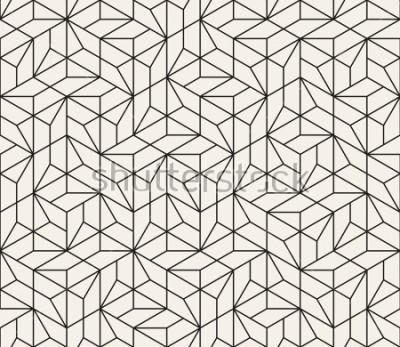 Sticker Vektor nahtlose Muster Moderne stilvolle abstrakte Beschaffenheit. Wiederholung geometrischer Fliesen aus gestreiften Elementen