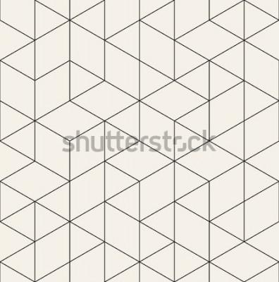 Sticker Vektor nahtlose Muster. Moderne stilvolle Beschaffenheit mit einfarbigem Gitter. Wiederholtes geometrisches Dreiecksgitter. Einfaches Grafikdesign. Trendy Hipster heilige Geometrie.