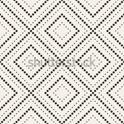 Sticker Vektor nahtlose Muster. Moderne stilvolle Textur. Sich wiederholende geometrische Fliesen mit gepunkteten Raute