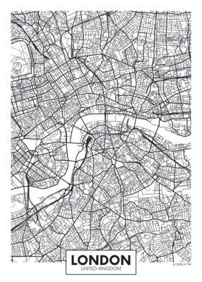 Vektor-Poster-Karten-Stadt London