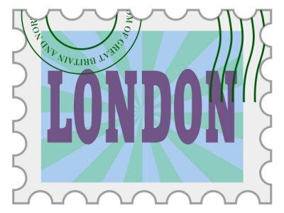 Sticker Vektor, Poststempel von London