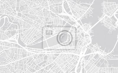 Vektor Stadtplan von Boston, Massachusetts