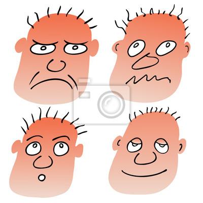 Vektor verschiedene Gesichtsausdrücke