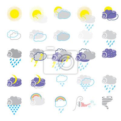 Vektor-Wetter-Symbole