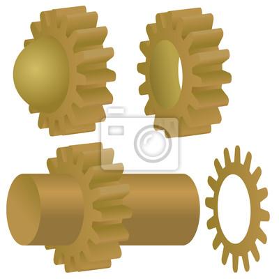 Vektor-Zahnräder