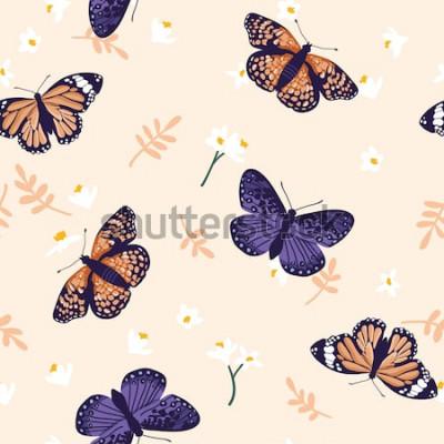 Sticker Vektornahtloses Muster mit hellen Basisrecheneinheiten. Handgezeichnete Textur-Design
