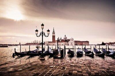 Sticker Venise gondole romantique liebe amoureux lagune