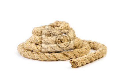 Verdrehte dicken Seil auf weiß